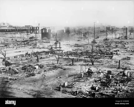 Ruins of Greenwood District after Race Riots, Tulsa, Oklahoma, USA,  American National Red Cross Photograph Collection, June 1921 Stock Photo -  Alamy