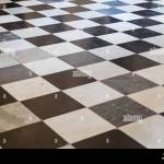 Black And White Checkerboard Marble Floor Stock Photo Alamy