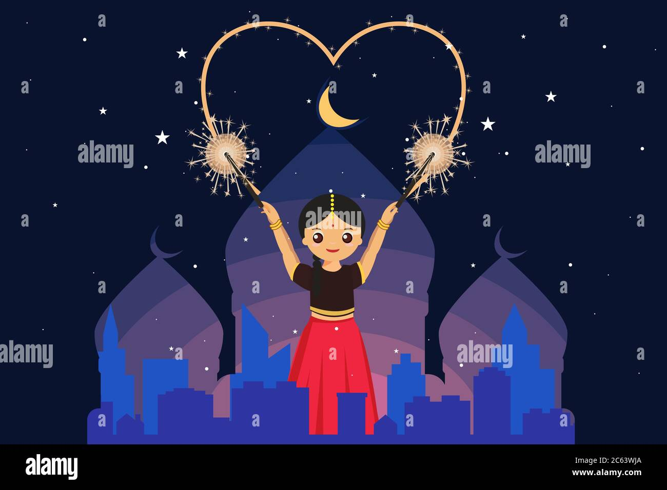 Diwali Drawing High Resolution Stock Photography And Images Alamy