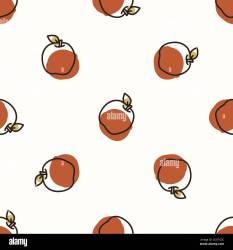 Seamless background sweet apple fruit Gender neutral kid food pattern Simple whimsical minimal earthy 2 tone color Baby nursery wallpaper or boho Stock Vector Image & Art Alamy