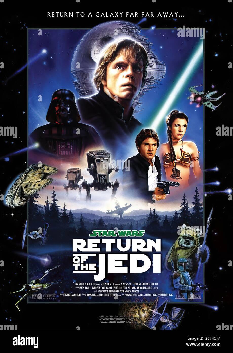 https www alamy com return of the jedi movie poster image366097854 html