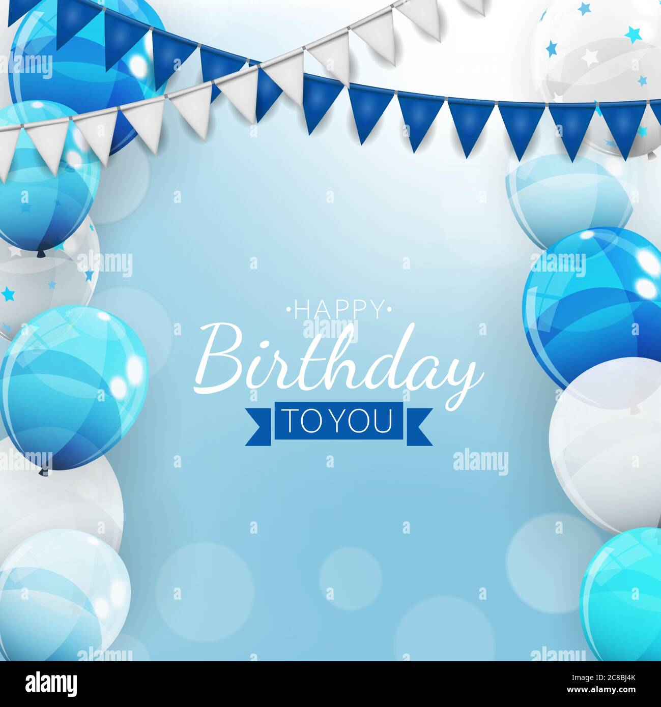 https www alamy com birthday invitation background with balloons vector illustration image366590691 html