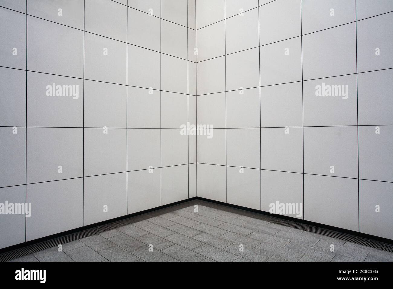 White Tile Wall In Metro Station Stock Photo Alamy