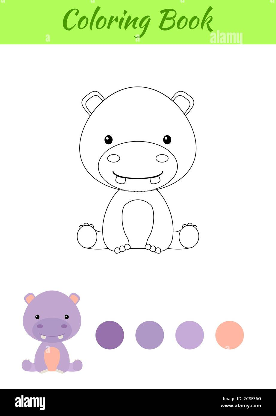 Hippo Drawing High Resolution Stock Photography And Images Alamy