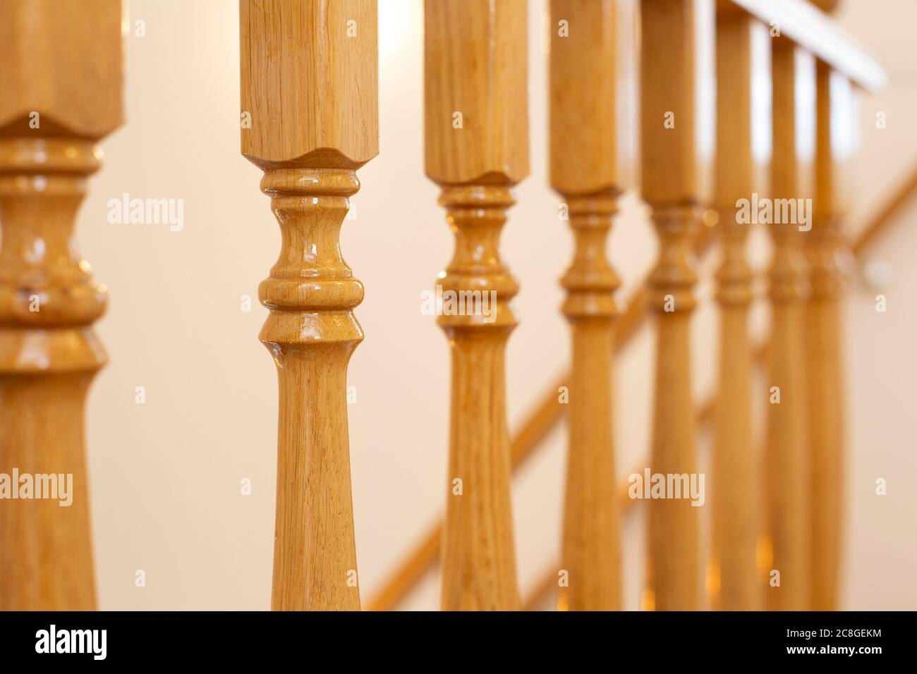 Wooden Railing Of An Luxury Antique Staircase Woodwork Elements   Staircase Handrail Wood Design   Wooden Balustrade   Modern   3 Story House   Internal Staircase Railing   Railing Colour
