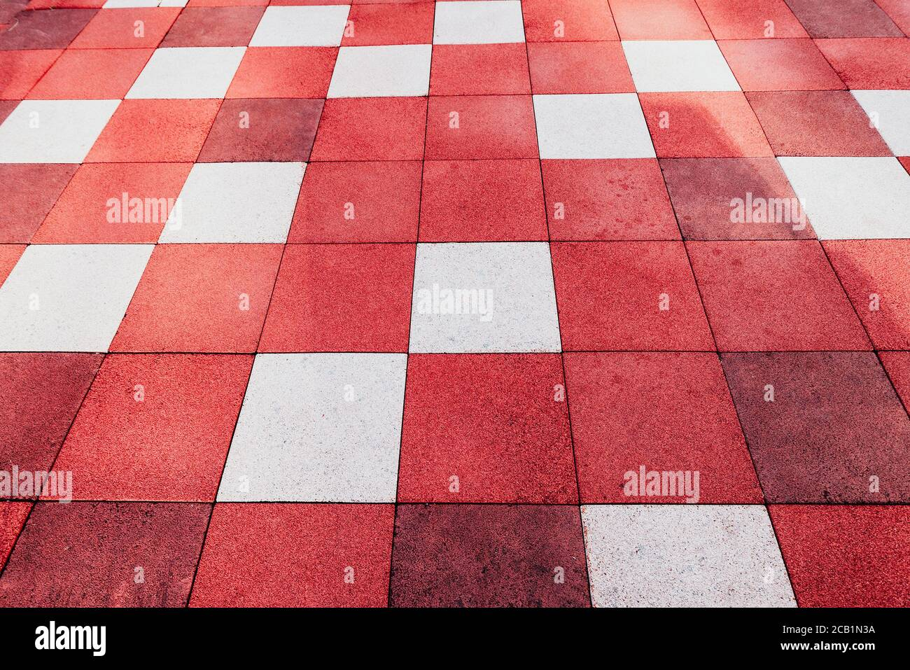 https www alamy com background of of red and white square shaped pavement tiles image368217454 html