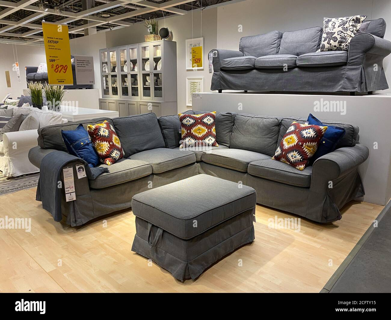 Sofa In Furniture Store High Resolution Stock Photography And Images Alamy