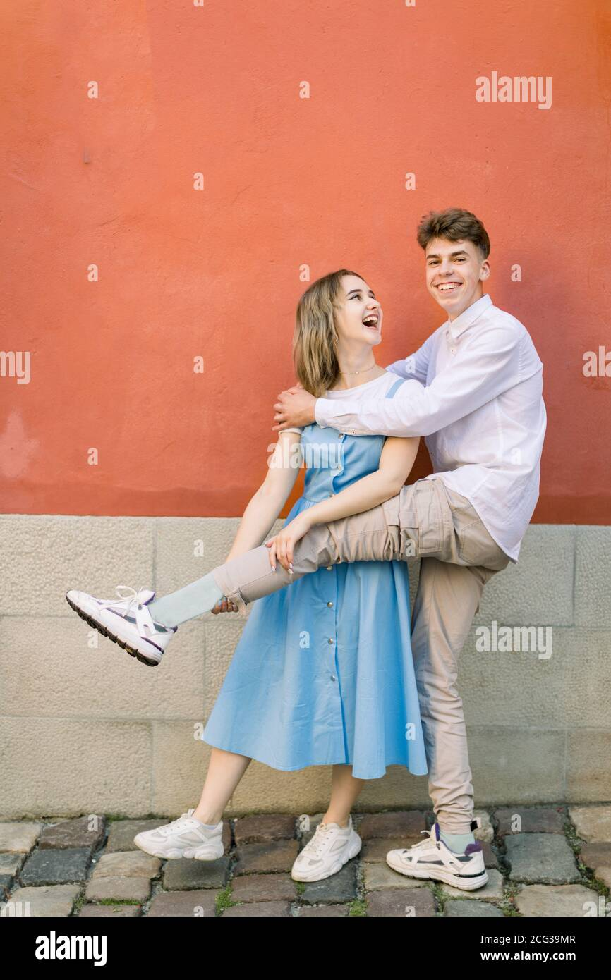 Funny Couple Images : funny, couple, images, Happy, Crazy, Funny, Couple, Summer, Casual, Clothes,, Having, Outdoors, City,, Posing, Camera,, Laughing, Raising, Their, Sneakers, Stock, Photo, Alamy