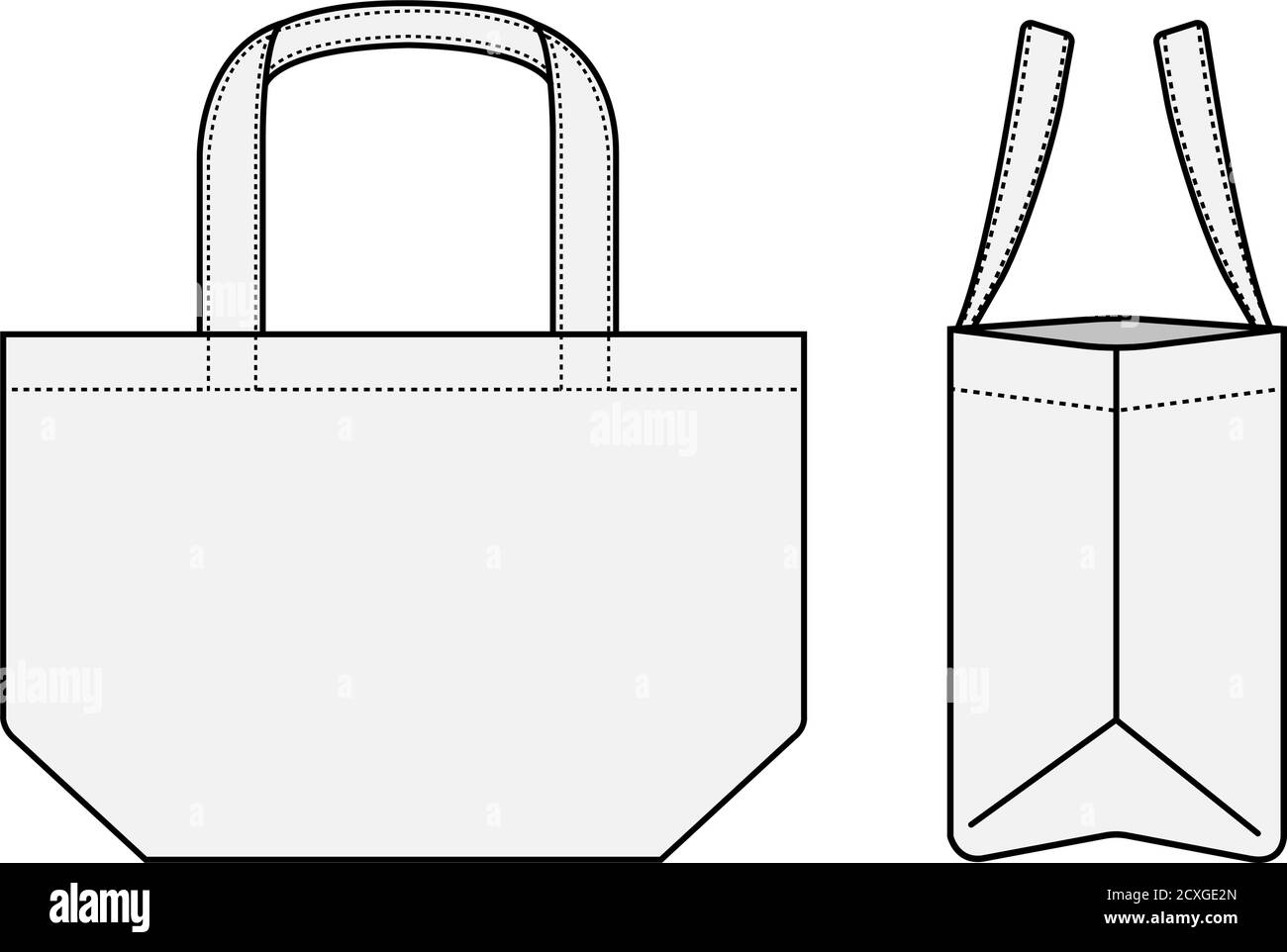 This is the best new assortment of latest latest bag mockups for free of charge transfer. Small Tote Bag Ecobag Shopping Bag Template Vector Illustration With Side View White Stock Vector Image Art Alamy