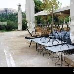 Greece Athens November 3 2020 Chairs Tables And Other Furniture Stacked Outside Closed Cafe Restaurant Around Acropolis Hill After The Announcem Stock Photo Alamy