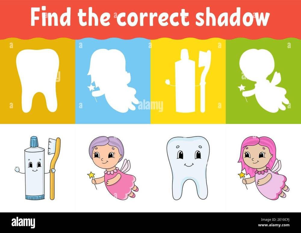 medium resolution of Match Shadow Puzzle Worksheet Kids High Resolution Stock Photography and  Images - Alamy