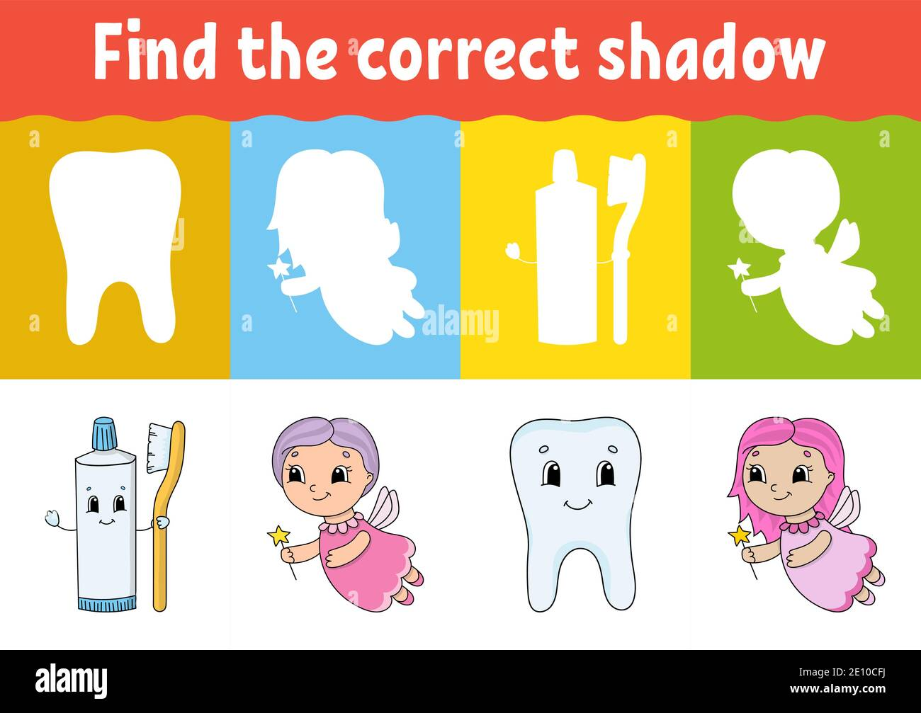 hight resolution of Match Shadow Puzzle Worksheet Kids High Resolution Stock Photography and  Images - Alamy