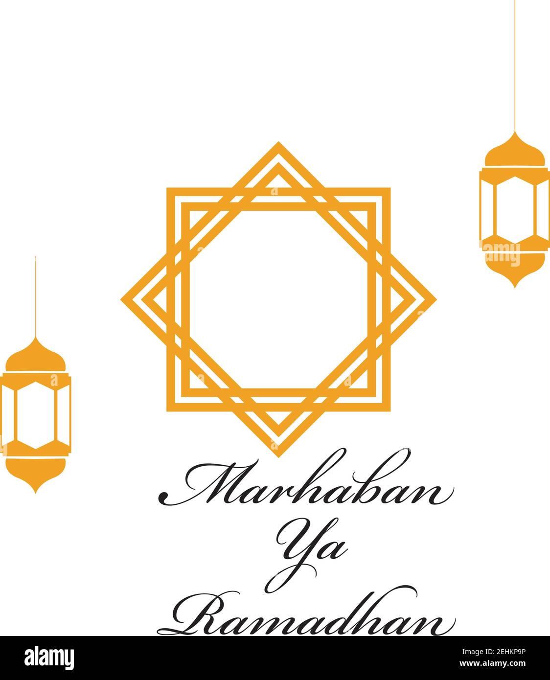 Tulisan Marhaban Ya Ramadhan : tulisan, marhaban, ramadhan, Vector, Illustration, Marhaban, Ramadhan, Stock, Image, Alamy