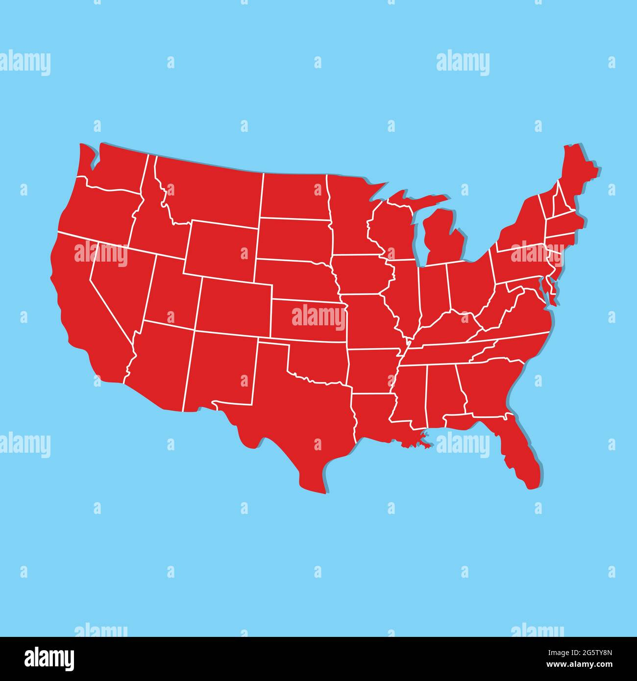 Available also through the library of … Vector Illustration Usa Map States And Territories Of United States Of America Stock Vector Image Art Alamy