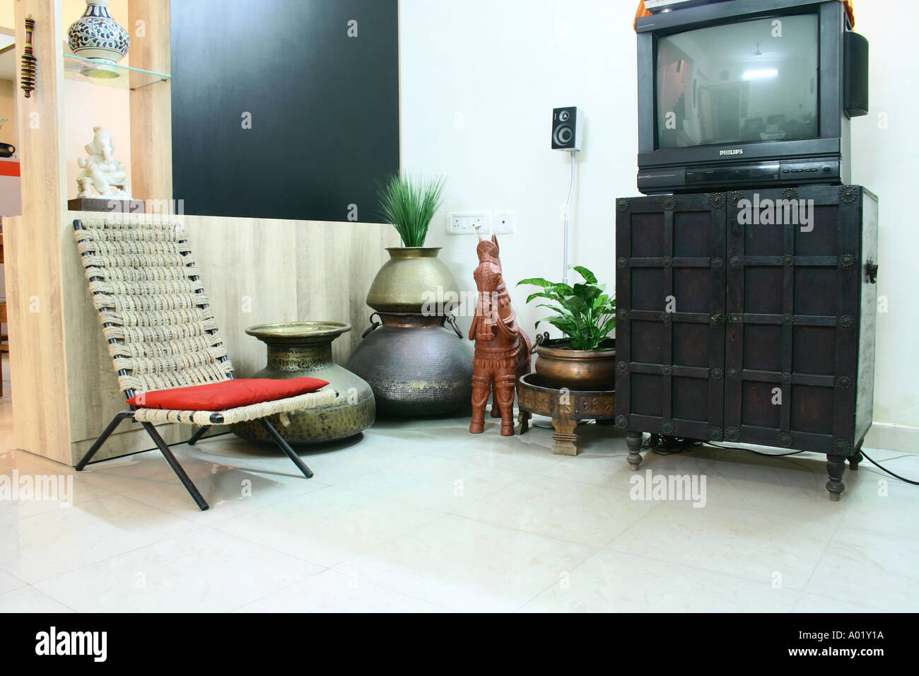 chairs for living room india sale interior of urban indian plastic cane chair red cushion television pots bankura horse wood cabinet below tv