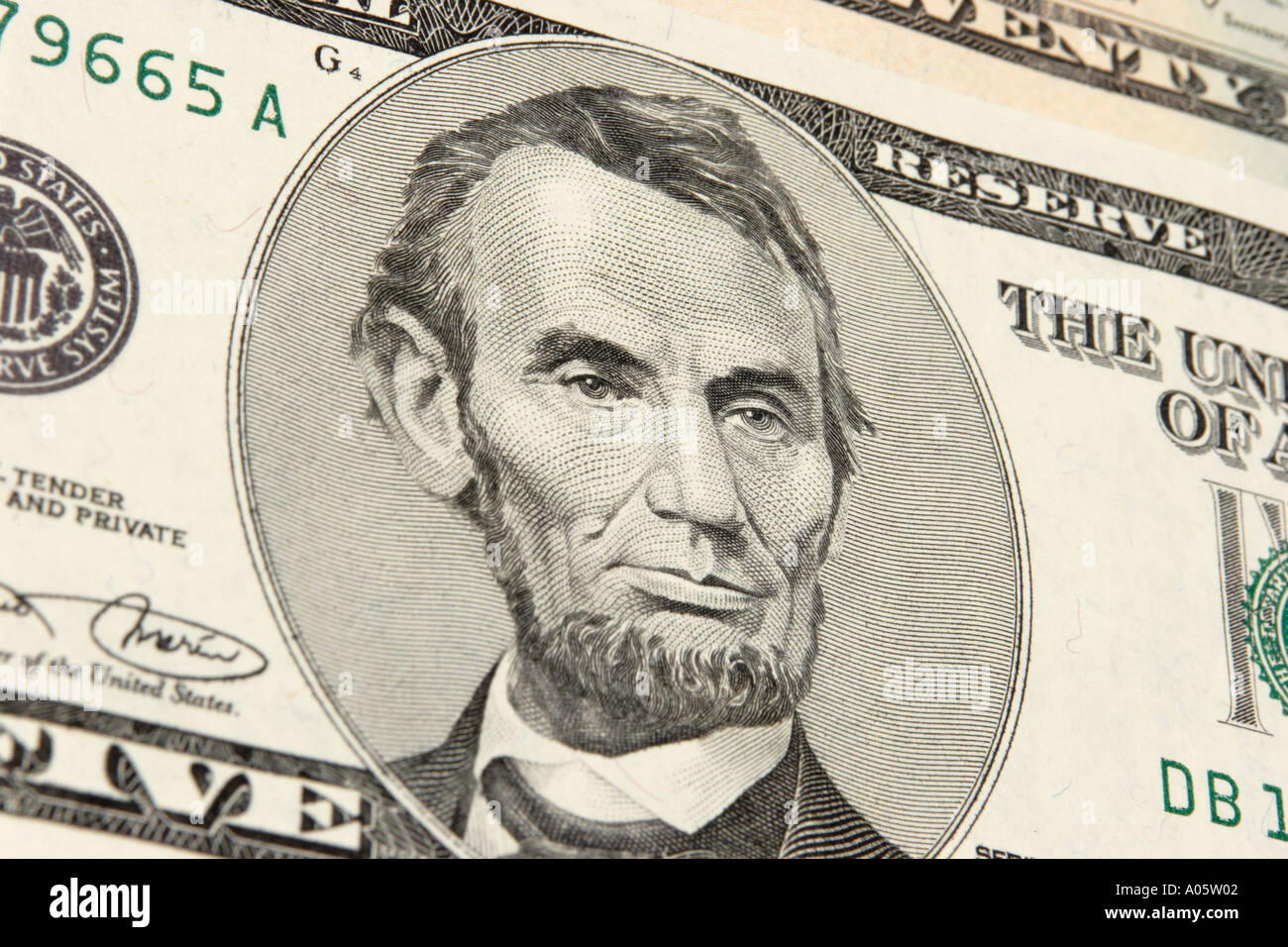 Money Usa American Currency Face Of Abraham Lincoln On