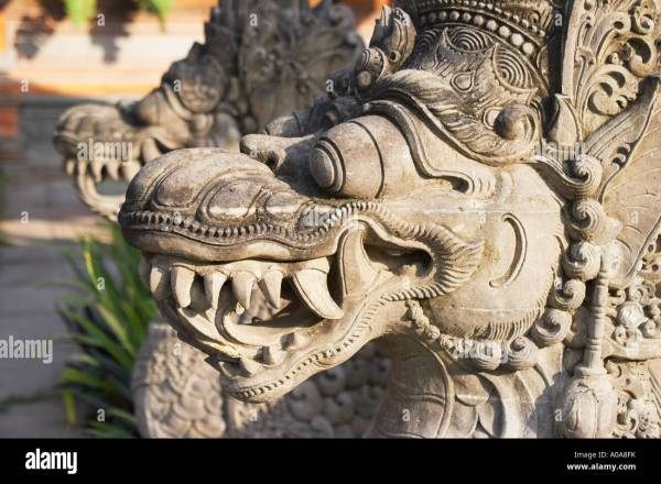 Dragon Traditional Statue Bali Indonesia Stock &