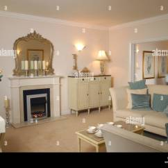 Pictures Of Furnished Living Rooms Modern Room Designs In Indian Uk Showhome Interior Stock Photo 9967498 Alamy
