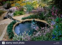 Feng Shui garden Design Pamela Woods Stock Photo, Royalty