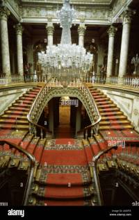 Dolmabahce Palace Istanbul Staircase Stock Photos