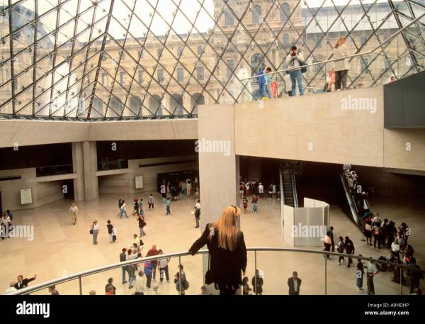 Inside Louvre Museum Paris France