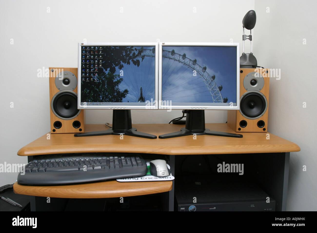 modern pc on desk
