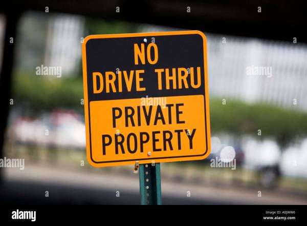 Drive Sign Private Property Stock 5721429