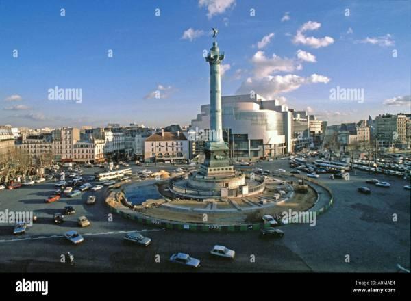 """Paris France Place De La Bastille With """"july Column"""