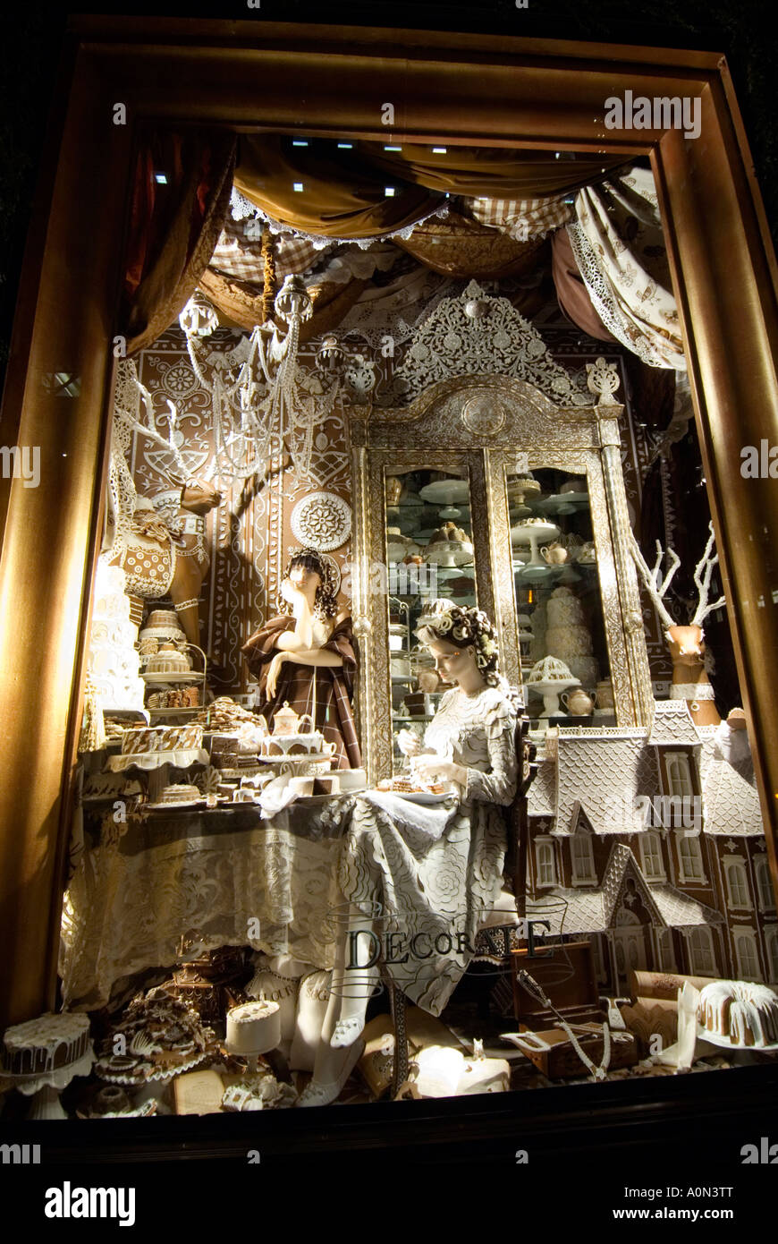 Candy Cake And Chocolate Christmas Window Display Bergdorf