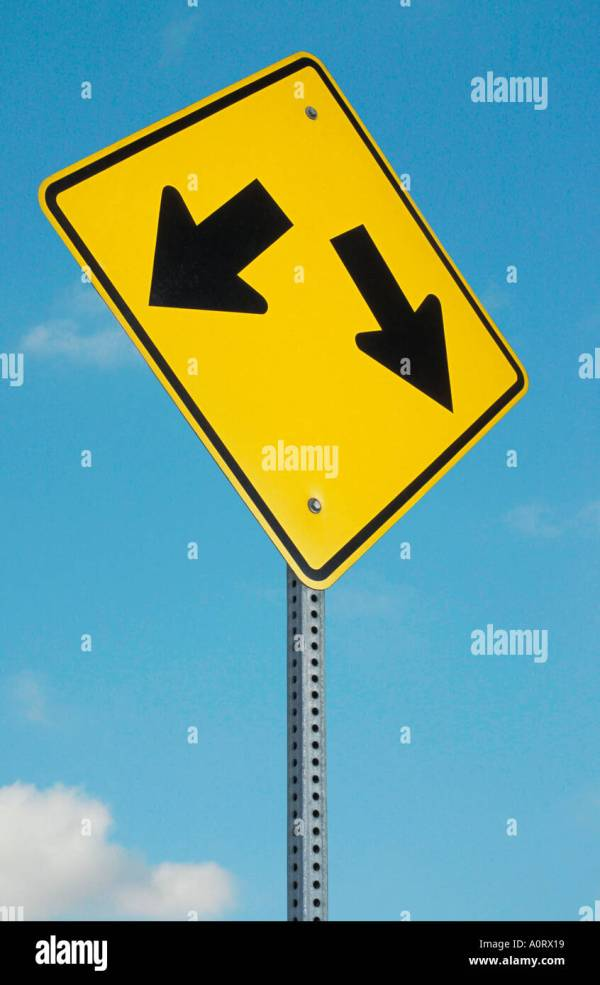 Traffic Sign Arrow Pointing Stock &