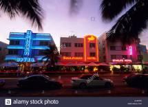 Colony Boulevard And Starlite Hotel Ocean Drive Miami