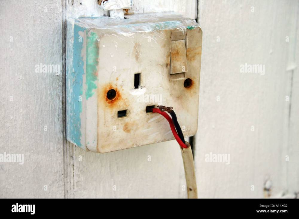 medium resolution of dangerous electrical plug socket