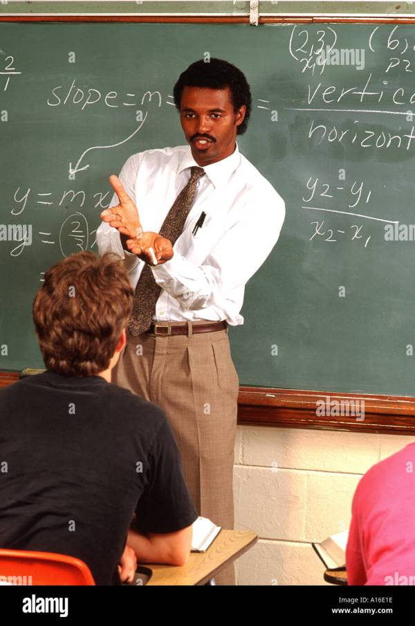 Education Black African American Teacher High School Math