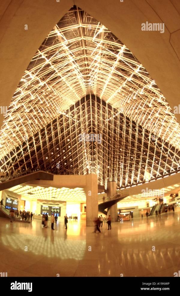 Paris Louvre Museum Pyramid Roof Structure Interior