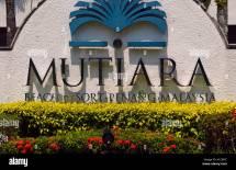 Mutiara Beach Resort Sign Penang Malaysia Stock