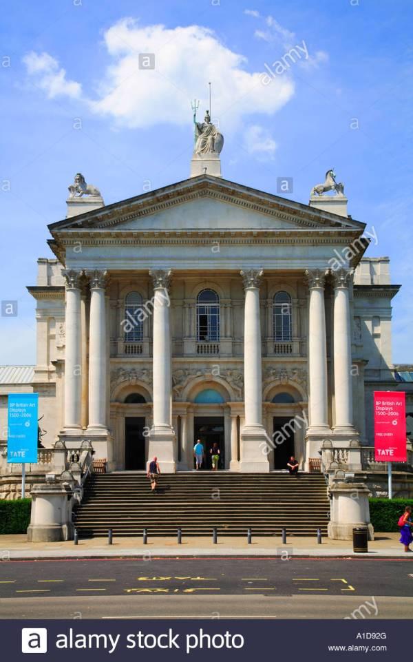 Front View Of Tate Britain Art London Uk Stock 10223271 - Alamy