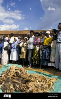 Rwanda Genocide Bones Stock &