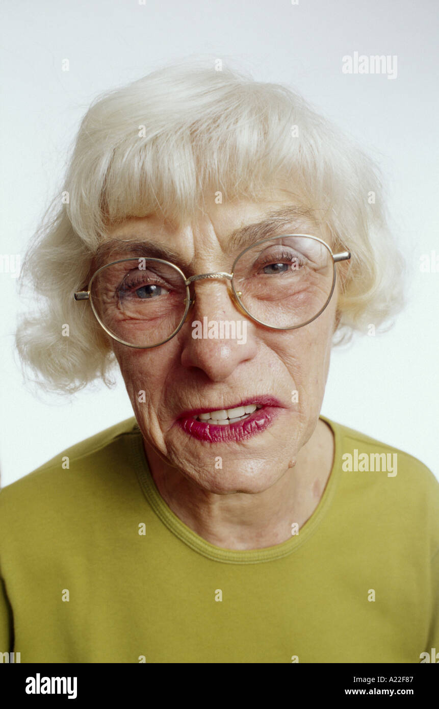 Funny Old Lady Pics : funny, Making, Funny, Stock, Photo, Alamy