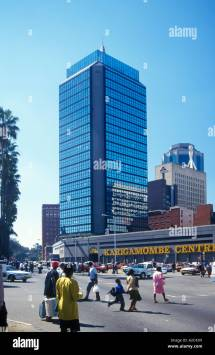 Highrise Buildings In Harare Capital City Of Zimbabwe