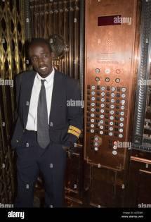 Elevator Attendant Smith Tower Seattle Usa Stock