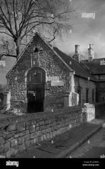 Schoolhouse Black And White Stock & - Alamy