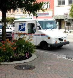 a grumman llv u s mail service delivery vehicle stock image [ 866 x 1390 Pixel ]