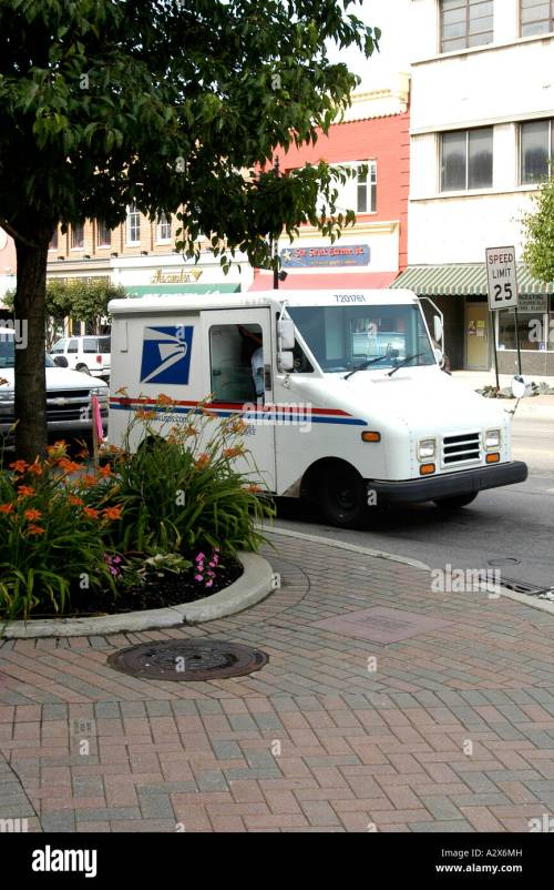 small resolution of a grumman llv u s mail service delivery vehicle stock image