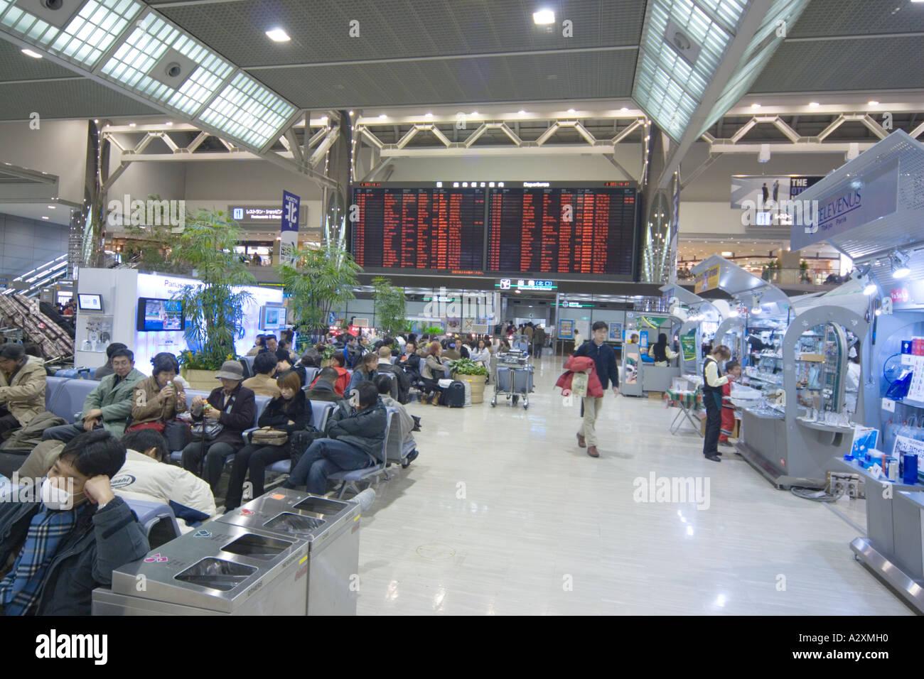 Tokyo Japan Narita Airport Terminal 2 Interior Departures arrivals Stock Photo. Royalty Free Image: 6064399 - Alamy
