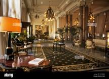Elegant Lobby Of Hotel Du Palais In Biarritz
