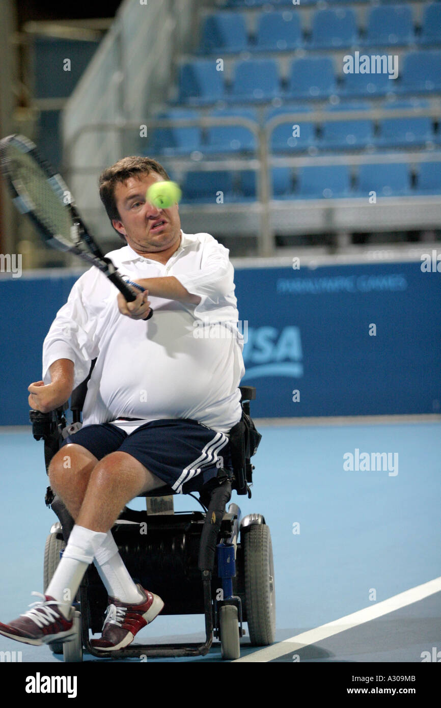wheelchair quad best gaming chair uk nick taylor of the usa competes in mixed singles tennis tournament bronze medal match during athens 2004