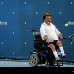Wheelchair Quad Relax The Back Chairs Reviews Nick Taylor Of Usa Competes In Mixed Singles Tennis Tournament Bronze Medal Match During Athens 2004