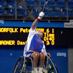 Wheelchair Quad Indoor Hanging Chairs Australia Peter Norfolk Of Great Britain Competes In The Men S Singles Tennis Tournament Final During Athens 2004 Para