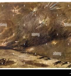 1916 artillery barrage stock image [ 1300 x 1030 Pixel ]