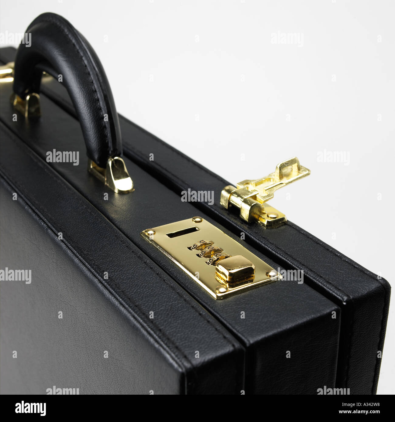 hight resolution of black briefcase with combination lock open stock image